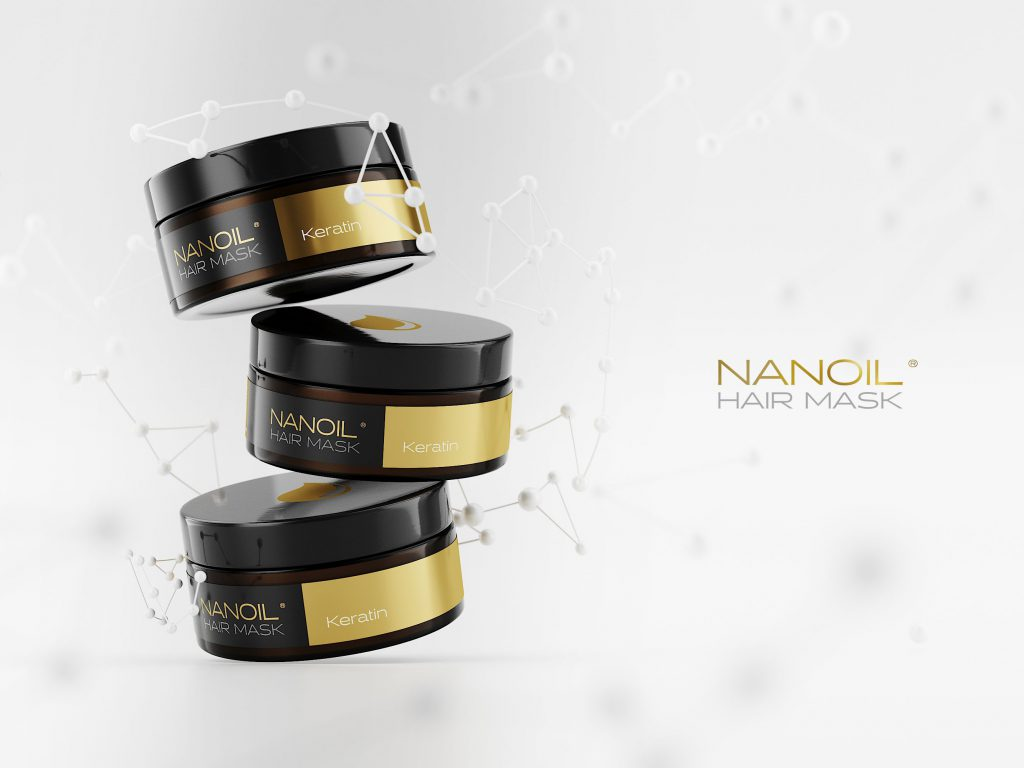 Nanoil the best hair mask with keratin